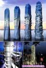 """让一座摩天大楼在空中旋转""""跳舞"""",听上去像是科幻小说。可迪拜就在建设这样一个建筑,它将是世界首个风力"""